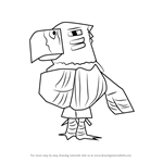 How to Draw Quetzal from Animal Crossing