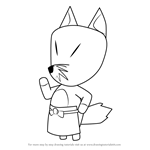How to Draw Redd from Animal Crossing