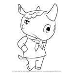 How to Draw Renée from Animal Crossing