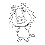 How to Draw Rex from Animal Crossing