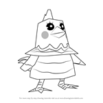 How to Draw Rhoda from Animal Crossing