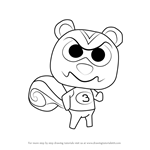 How to Draw Ricky from Animal Crossing