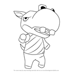 How to Draw Rocco from Animal Crossing