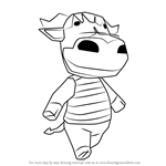 How to Draw Rodeo from Animal Crossing