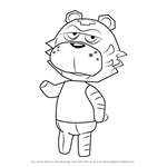 How to Draw Rowan from Animal Crossing