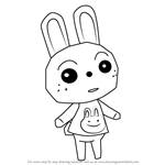 How to Draw Ruby from Animal Crossing
