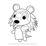 How to Draw Sable from Animal Crossing