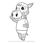 How to Draw Savannah from Animal Crossing