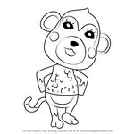 How to Draw Shari from Animal Crossing