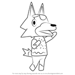 How to Draw Skye from Animal Crossing