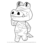 How to Draw Sly from Animal Crossing