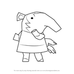How to Draw Snooty from Animal Crossing