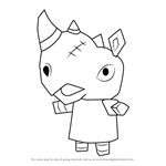 How to Draw Spike from Animal Crossing
