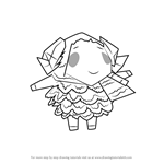 How to Draw Stella from Animal Crossing