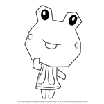 How to Draw Sunny from Animal Crossing