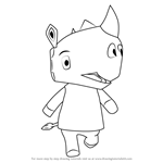 How to Draw Tank from Animal Crossing