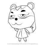 How to Draw Tasha from Animal Crossing
