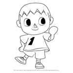 How to Draw The Villager from Animal Crossing