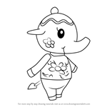 How to Draw Tia from Animal Crossing