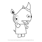 How to Draw Tiara from Animal Crossing