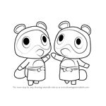 How to Draw Timmy and Tommy from Animal Crossing