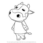 How to Draw Tipper from Animal Crossing
