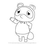 How to Draw Tom Nook from Animal Crossing