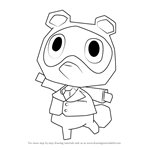 How to Draw Tommy from Animal Crossing
