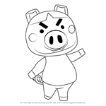 How to Draw Truffles from Animal Crossing