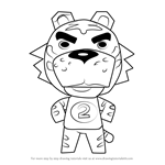 How to Draw Tybalt from Animal Crossing