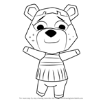 How to Draw Ursala from Animal Crossing