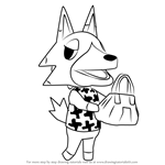 How to Draw Vivian from Animal Crossing