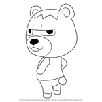How to Draw Vladimir from Animal Crossing