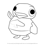 How to Draw Wade from Animal Crossing