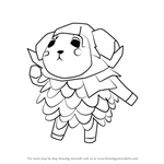 How to Draw Willow from Animal Crossing