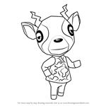 How to Draw Zell from Animal Crossing