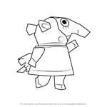 How to Draw Zoe from Animal Crossing