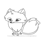 How to Draw Arctic Fox from Animal Jam