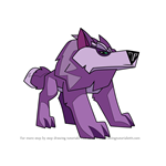 How to Draw Direwolf from Animal Jam