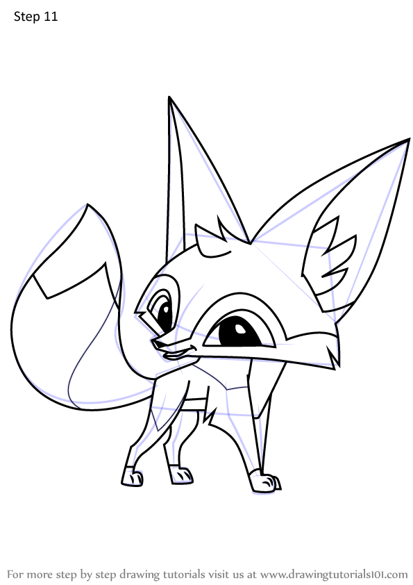Step By Step How To Draw Fennec Fox From Animal Jam Drawingtutorials101 Com