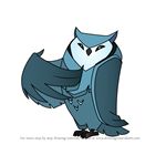 How to Draw Great Horned Owl from Animal Jam