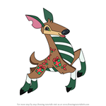 How to Draw Jamaaliday Deer from Animal Jam