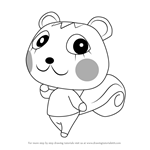 How to Draw Mint from Animal Crossing