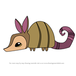 How to Draw Pet Armadillo from Animal Jam
