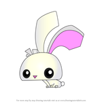 How to Draw Pet Bunny from Animal Jam