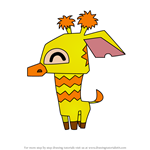How to Draw Pet Giraffe from Animal Jam
