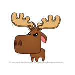 How to Draw Pet Moose from Animal Jam
