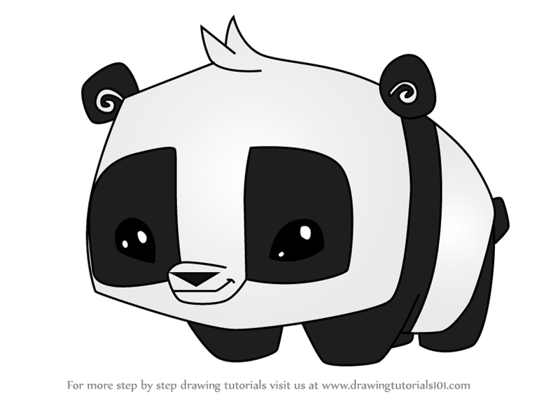 Step by Step How to Draw Pet Panda from Animal Jam ...