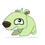 How to Draw Pet Polar Bear from Animal Jam