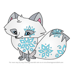How to Draw Polar Arctic Fox from Animal Jam